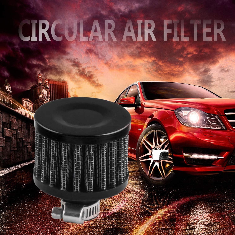 FairytaleMM Car 12Mm Cattura olio Serbatoio Carter Valvola di sfiato Presa di sfiato Filtro aria tondo Mercato di vendita caldo Trend-nero