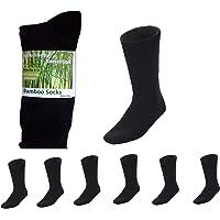 7 Pairs MEN MENS Thick Bamboo Work Socks Heavy Duty CUSHION Bulk NEW Black Premium Bamboo Fibre Socks