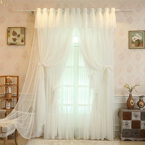 Lotus Karen White Princess Curtain