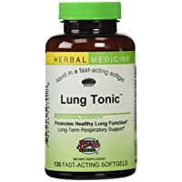 Lung Tonic - Long-term Herbal Respiratory Remedy Supports Lung and Bronchial Health - All-Natural - 120 Softgels (Contains Mullein, Horehound, Elecampane, Grindelia, Echinacea, Pleurisy Root, Osha & More) - Herbs Etc