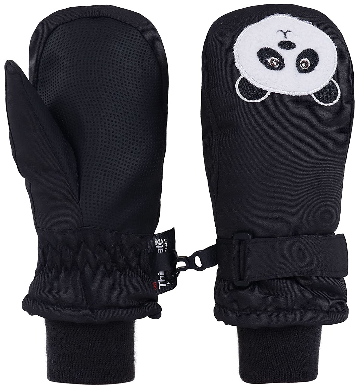 Livingston 子供用ミトン シンサレート素材の裏打ち 防水スキー手袋 動物デザイン B0776MG6PF Small|パンダ パンダ Small
