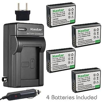 Amazon.com: Kastar Cargador, Batería para LP-E10 – 2 LP-E10 ...