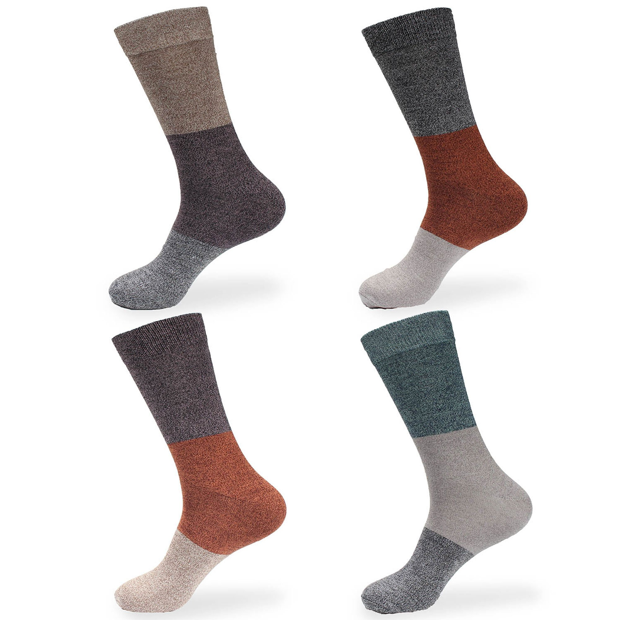 Women's Extra Large Rayon from Bamboo Fiber Classic Casual Crew Socks - Assortment C - 4prs, Size 10-13