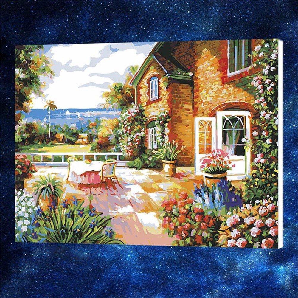 XJKLFJSIU DIY Jardín Digital Paisaje para Colorear Número ...