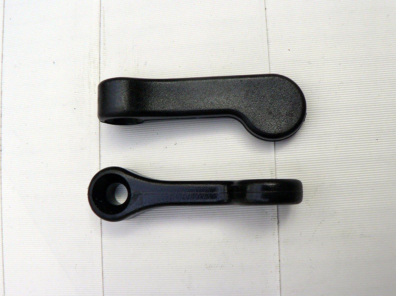 2 Kunststoff Vorreiber - schwarz - 50 mm lang - Ø 13 mm / 5 mm S&S-Shop