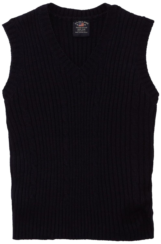 Amazon.com: U.S. Polo Assn. School Uniform Boys' Cable Front ...