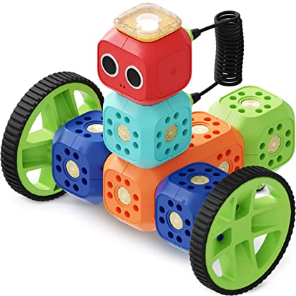 Robo Wunderkind Robotics Kit - Build and Code Your Own Robots - STEM Toy  for Kids 5-10 - Compatible with Lego - 2 Free Apps with Creative Coding