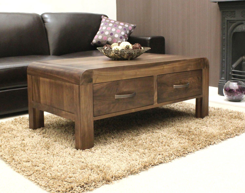 baumhaus shiro walnut four drawer coffee table amazon co uk kitchen home