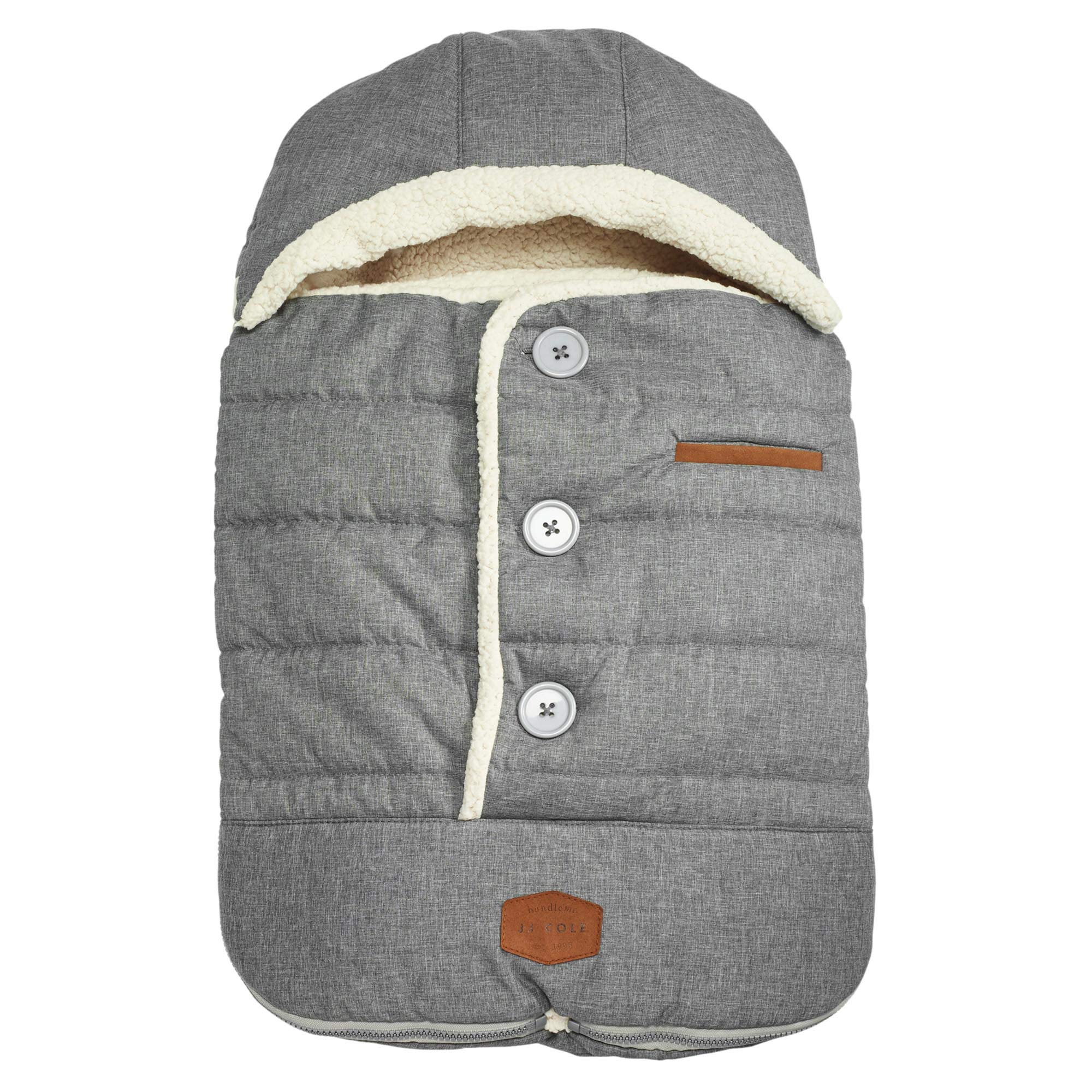 JJ Cole - Urban Bundleme, Canopy Style Bunting Bag to Protect Baby from Cold & Winter Weather in Car Seats & Strollers, Graphite, Infant by JJ Cole (Image #1)