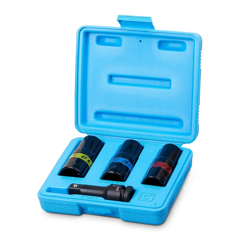 Capri Tools(カプリツールズ) 5-8102 12.7mm sq.(1/2インチ) インパクトレンチ用フリップソケットセット 6サイズ:17mm, 19mm, 21mm, 3/4インチ, 13/16インチ, 7/8インチ 4点 B06XD5FXY9