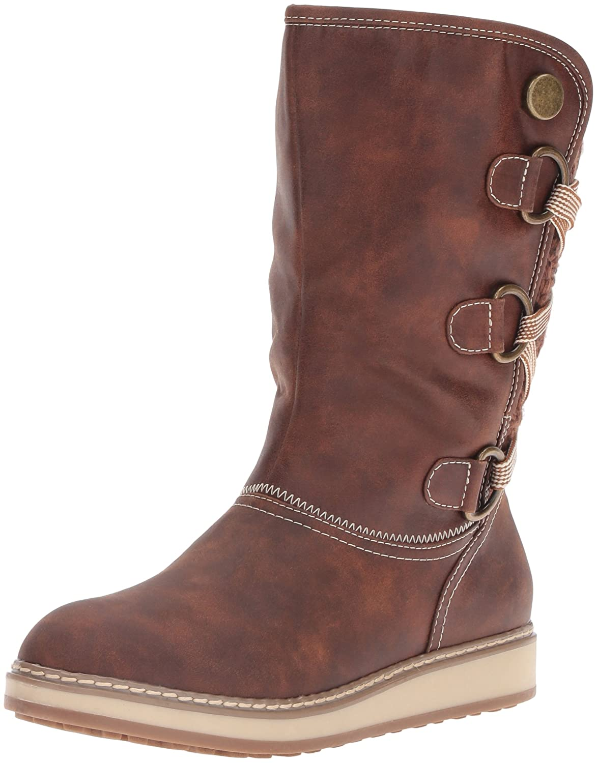 WHITE MOUNTAIN Women's Tivia Snow Boot B01DS40NC4 9.5 B(M) US|Cognac