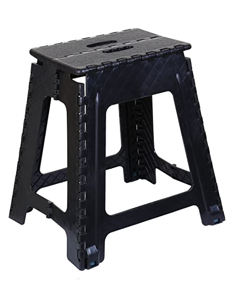 Folding Step Stool 18 Inch (Black)  sc 1 st  Amazon.com : 18 inch stool for kitchen - islam-shia.org
