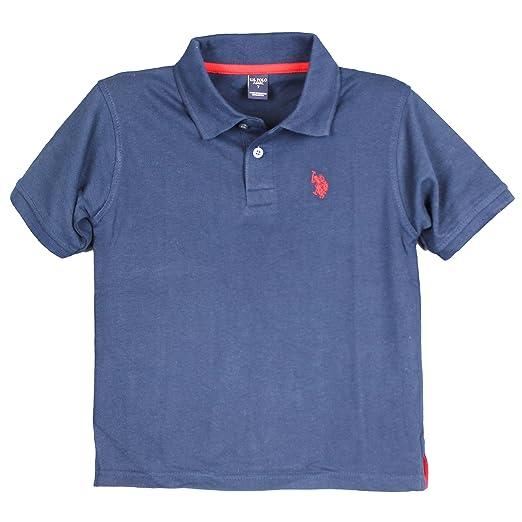 71d9035f Amazon.com: U.S. Polo Assn. Boys Polo Shirt USPA Solid Short Sleeve Boys  Collared Golf Shirt Navy Blue Size 4: Clothing