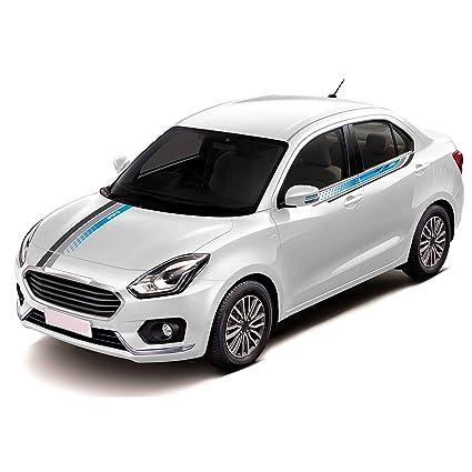 Autographix Car Sticker For Maruti Suzuki Swift Dzire Blue Trail Car
