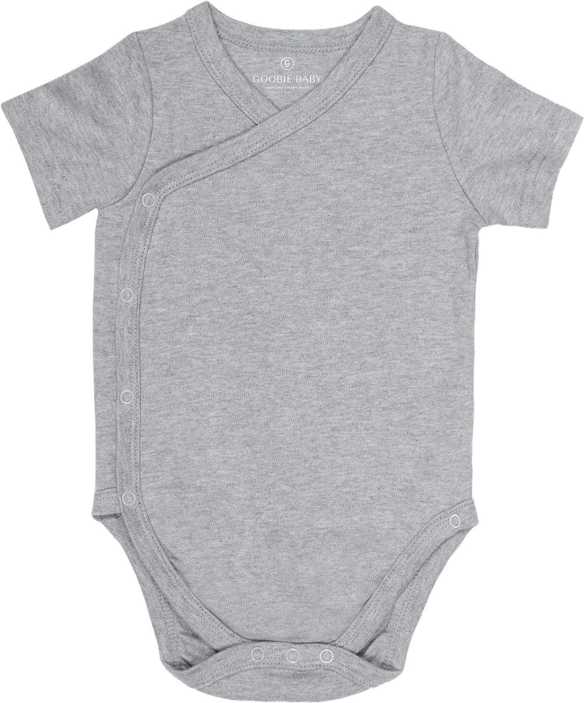 Baby Side Snap Bodysuit Set 4 Pack 100/% Cotton Boy Girl Unisex Kimono Onesie