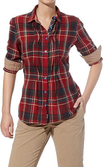 Napapijri blusa de mujer de cuadros gindi #rif115
