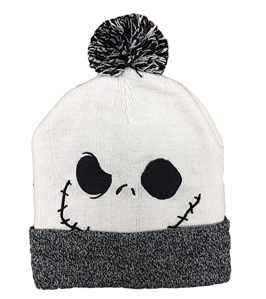 the nightmare before christmas jack knit cuff beanie hat adult unisex