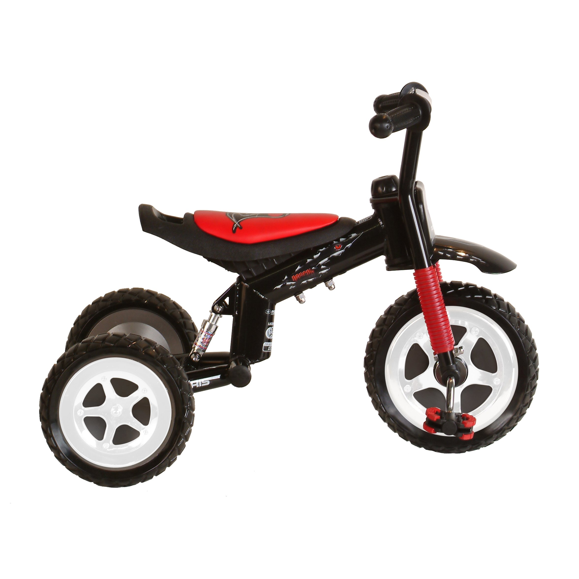 Polaris Dragon Tricycle with Steel Frame and Suspension Fork, 10 inch Wheels, for Boys and Girls, Red/Black by Polaris (Image #1)