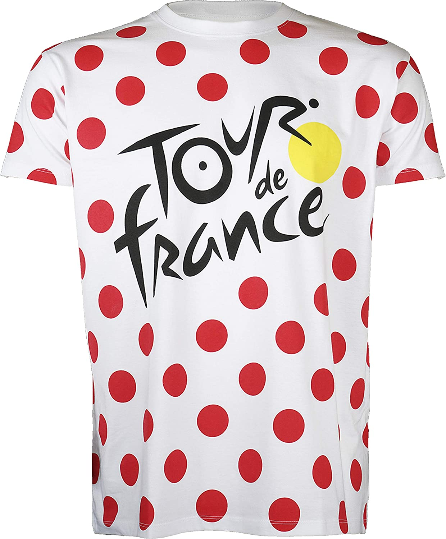 Tour de France – Camiseta – Grimpeur de ciclismo – Colección oficial – Talla de adulto para hombre
