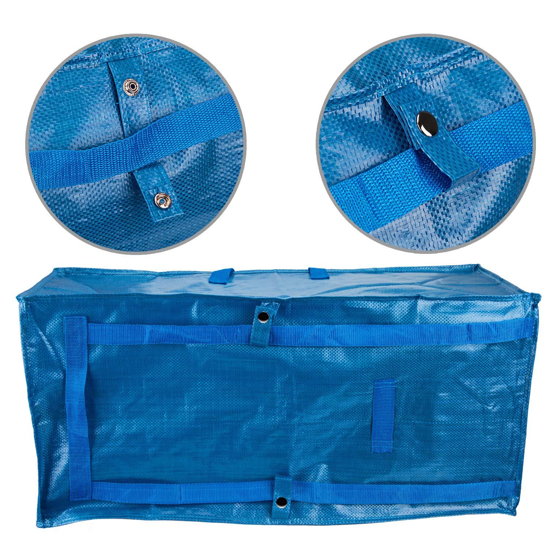LUTER Bolsa Almacenaje Ropa Grande Plastico Almacenaje Juguetes Bolsa Viaje Bolsa de Almacenamiento para IKEA Frakta Edredon Almohadas 1 Pieza