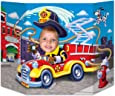 Beistle Fire Truck Photo Property, 3-Feet 10-Inch by 25-Inch, Multicolor
