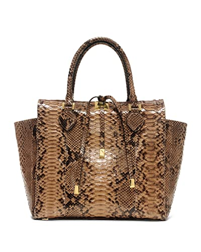 6cdb07891 Amazon.com: Michael Kors Collection Brown Large Miranda Python Tote Suntan  NEW: Shoes
