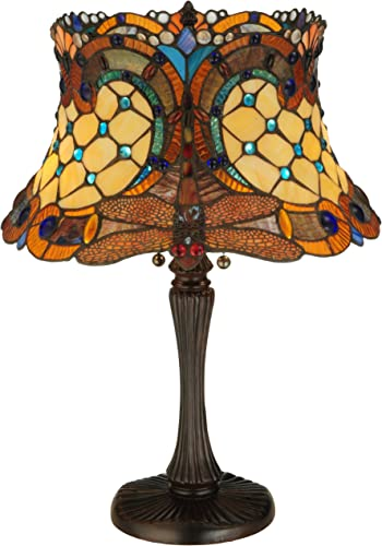Meyda Tiffany 130762 22.5 H Tiffany Hanginghead Dragonfly Table Lamp