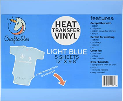 Cricut Guaranteed Size Ships Flat Craftables Orange Heat Transfer Vinyl HTV 5 Sheets Easy to Weed Tshirt Iron on Vinyl for Silhouette Cameo All Craft Cutters