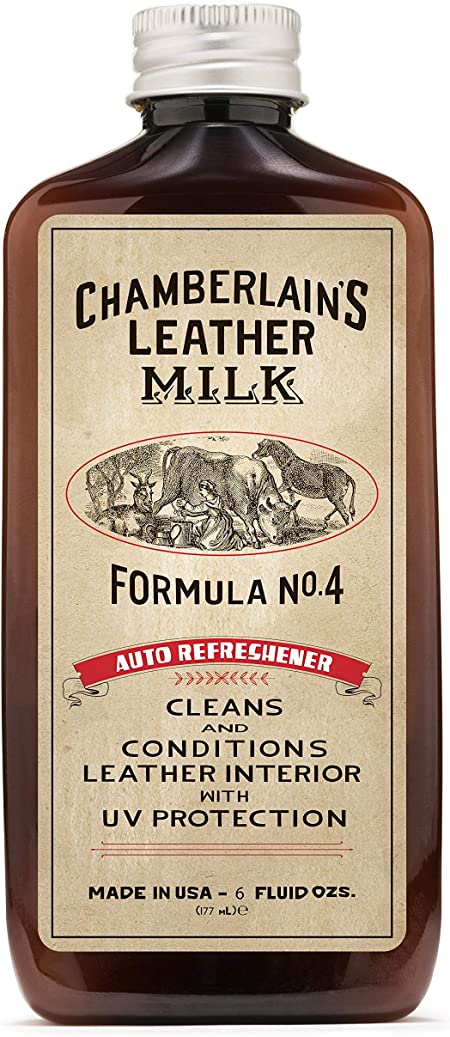 Chamberlain S Leather Milk Car Refre Shener Formula No 4 Leather Car Air Conditioner And Cleaner For Cars And Automotive Interiors And Free Cleaning Pad Now In 2 Sizes Auto