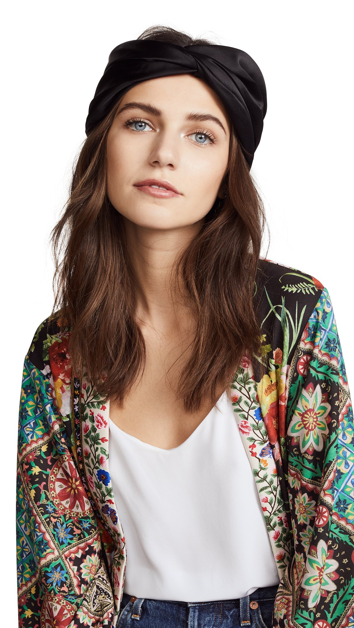 Eugenia Kim Women's Malia Turban Headband, Black, One Size
