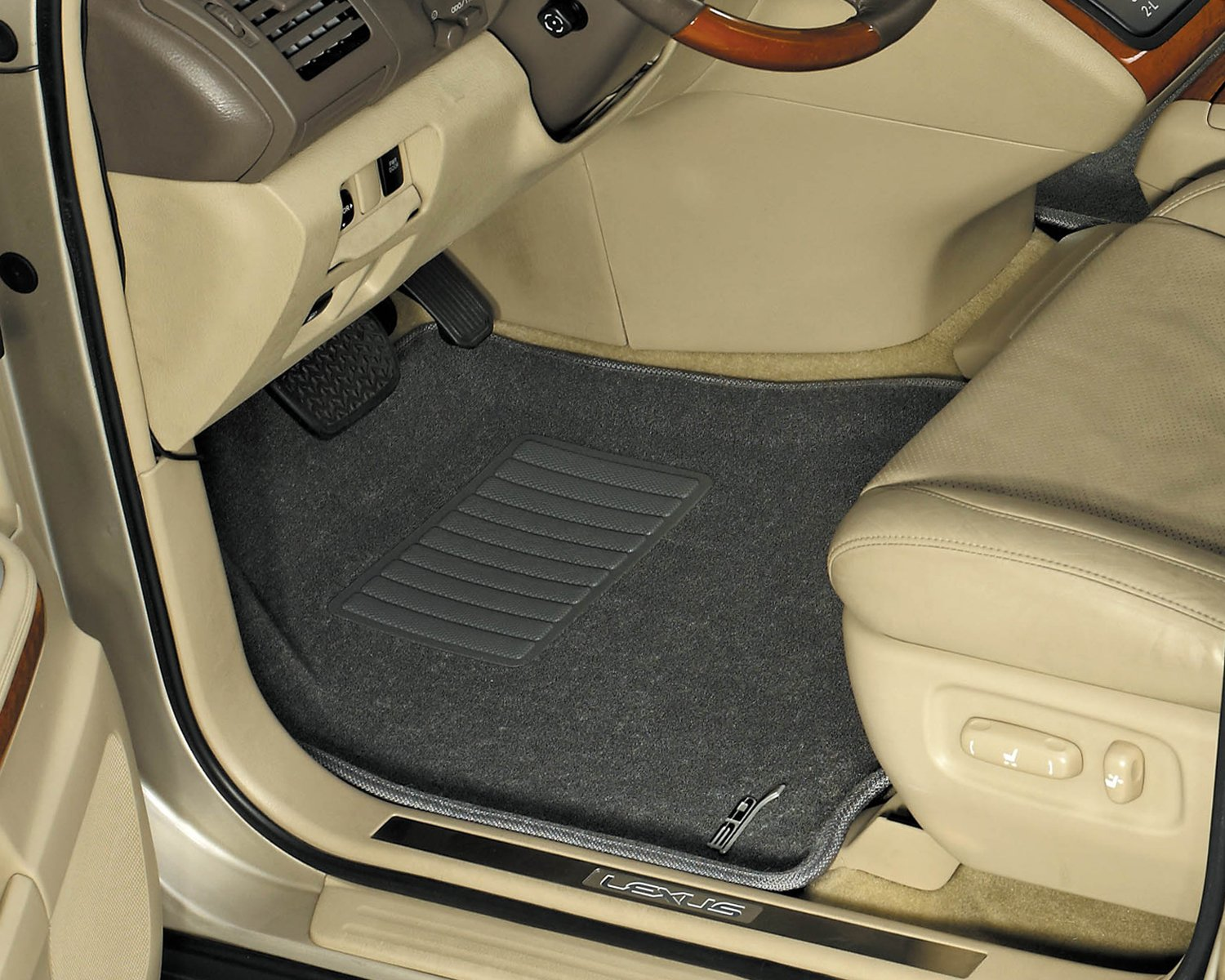 Black Classic Carpet 3D MAXpider Second Row Custom Fit All-Weather Floor Mat for Select Acura ILX Models