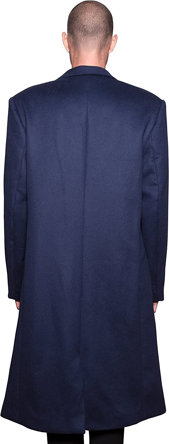 Wool Overcoat Navy Blue At Amazon Men S Clothing Store