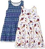 Spotted Zebra Girls' Toddler Disney Marvel Frozen Princess Knit Sleeveless Tiered Dresses, 2-Pack Star Wars Rebel Squad