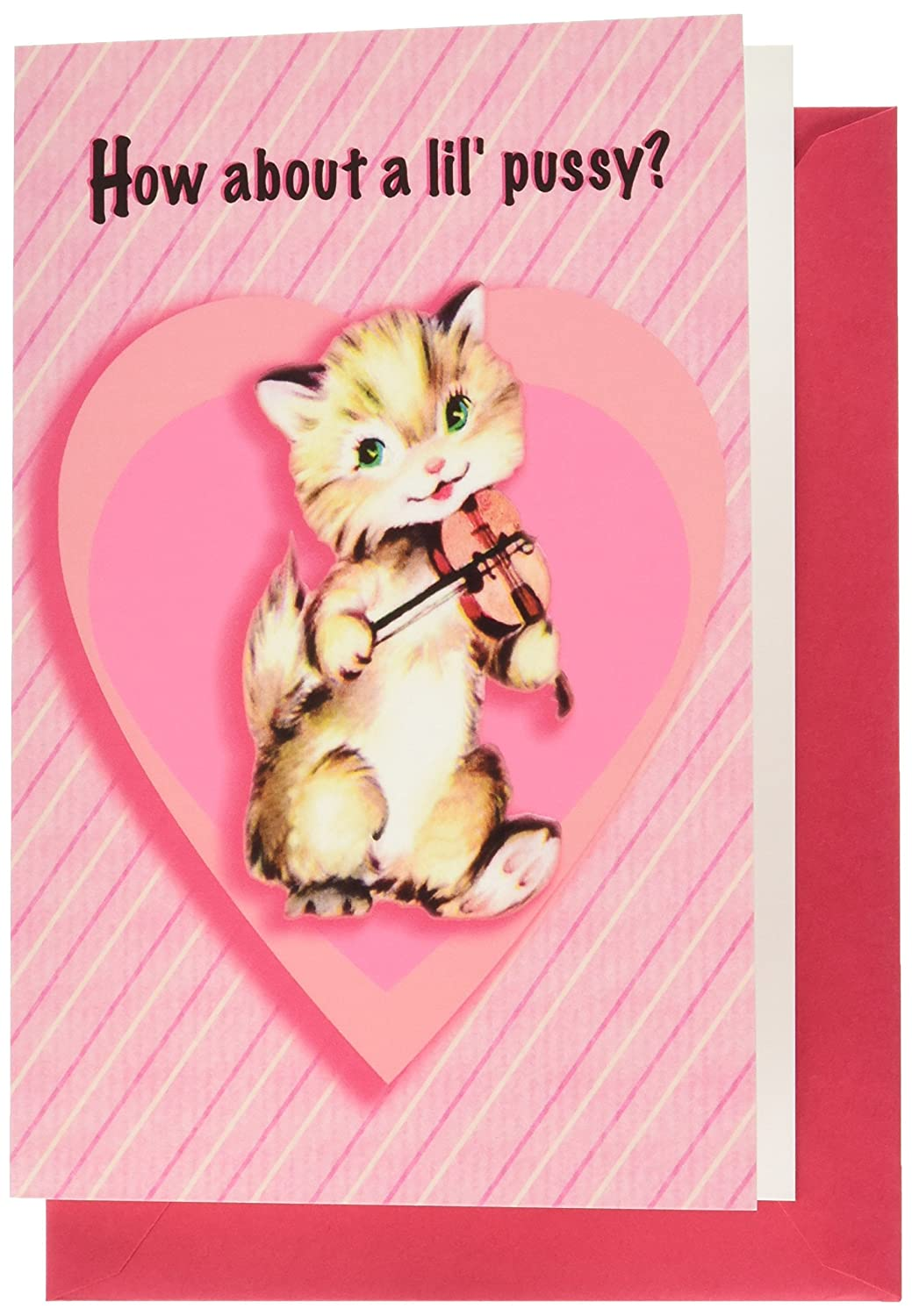 NobleWorks 2126 ''Pussy'' Funny Valentine's Day Unique Greeting Card, 5