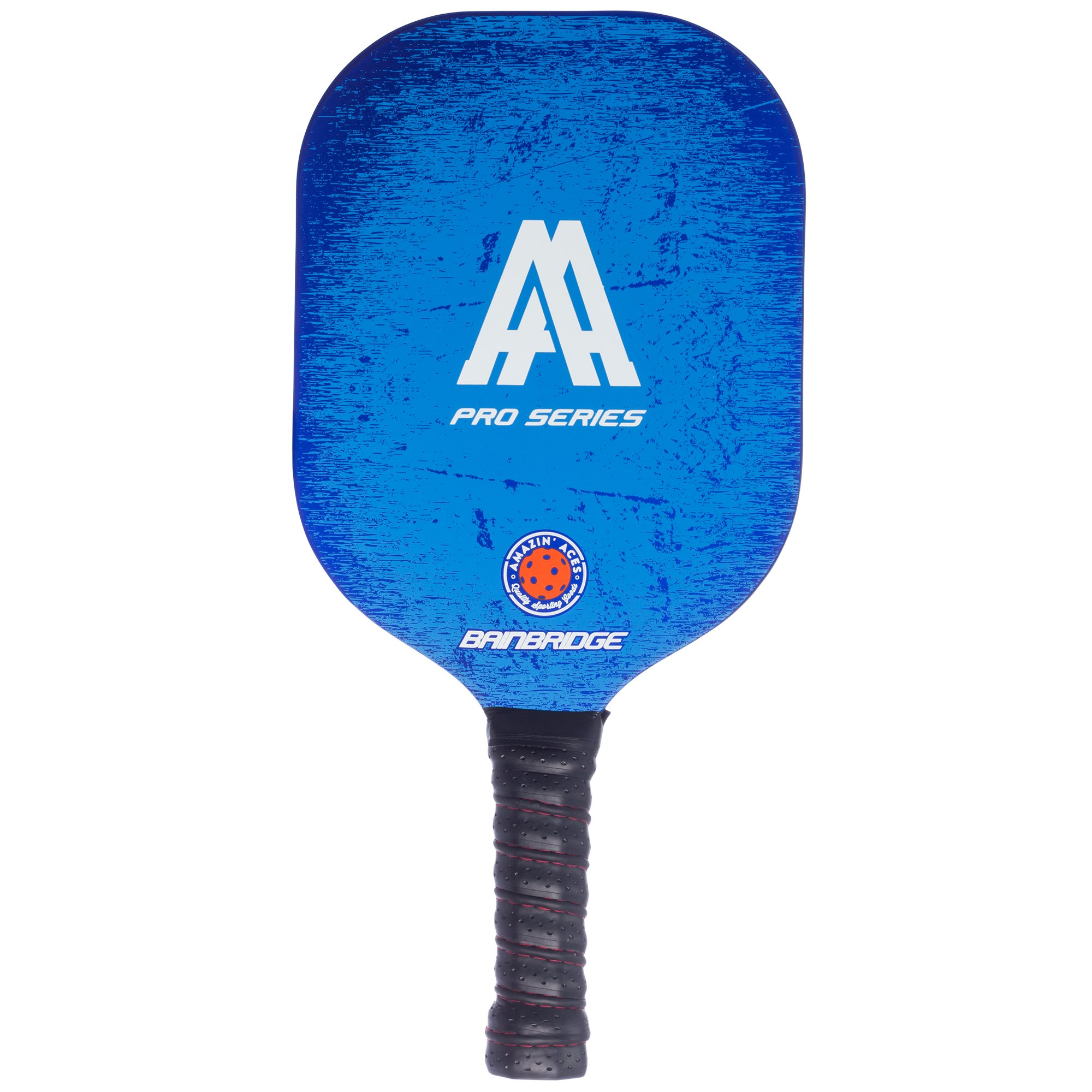 Amazin' Aces 'BAINBRIDGE' Pickleball Paddle (Pro Series) | Edgeless Composite Paddle | Aluminum Honeycomb Core With Graphite & Fiberglass Rimless Face | Includes Racket Cover With Shoulder Strap