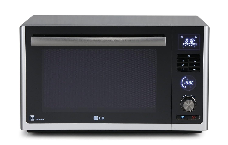 LG MJ3281BC - Microondas con aire caliente y grill de carbón y ...