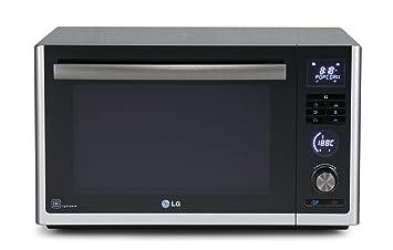 LG MJ3281BC - Microondas con aire caliente y grill de carbón y cuarzo (32 l