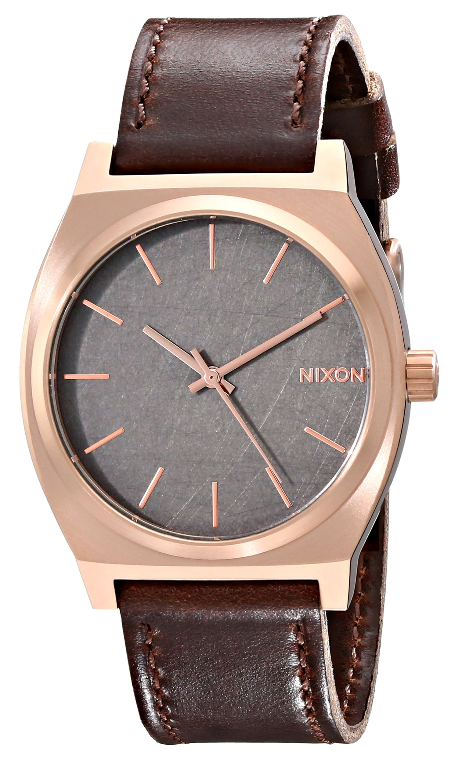 Nixon Unisex Time Teller Japanese quartz Stainless Steel watches Rose Gold/Gunmetal/Brown A045