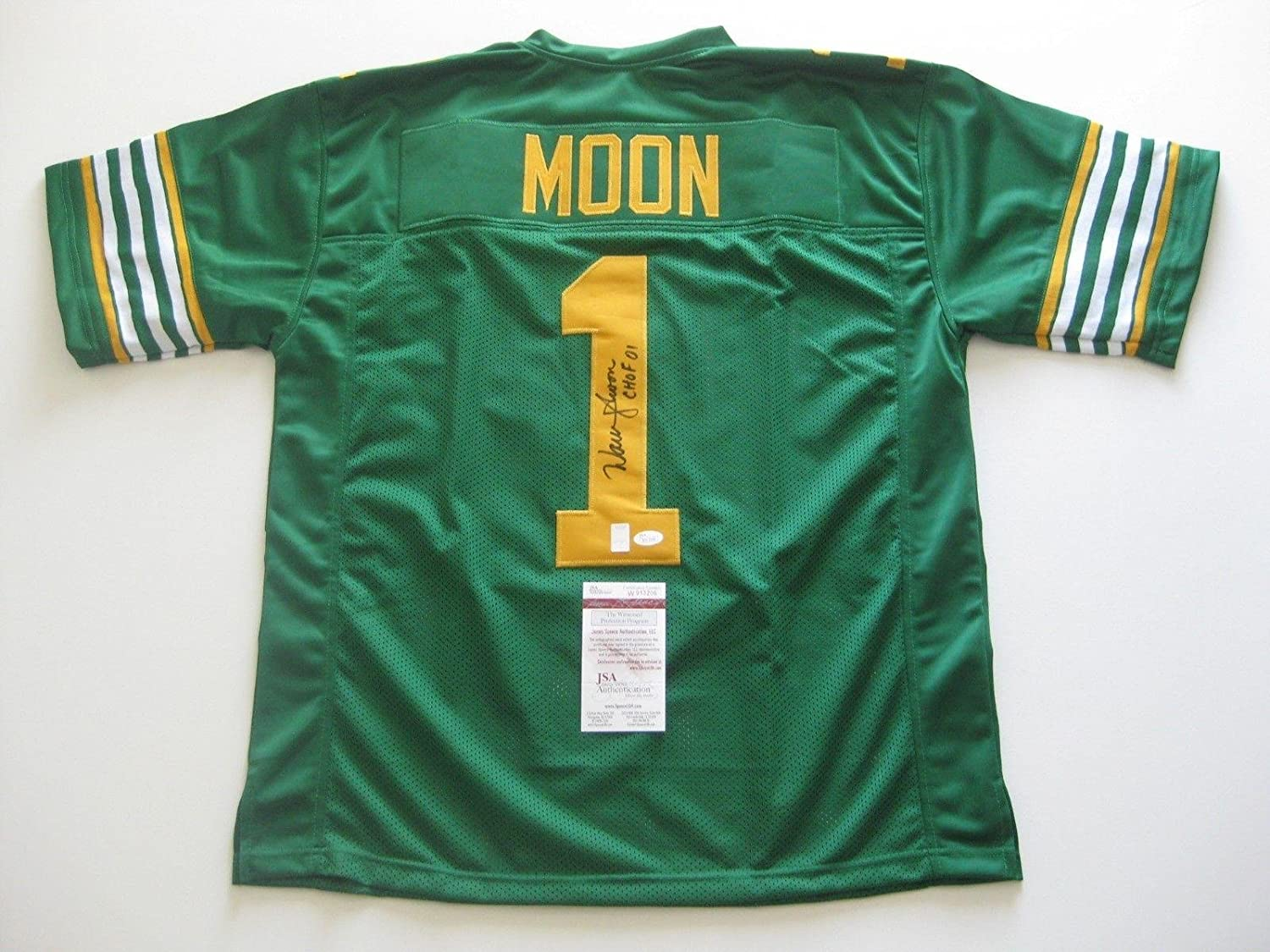 ebce9906f Amazon.com  WARREN MOON signed auto d EDMONTON ESKIMOS Custom Made Jersey  w CHOF 01 - JSA Certified - Autographed NFL Jerseys  Sports Collectibles
