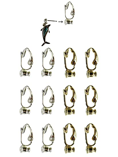 4f83f6bb7 Clip-on Earring Converter. 12 Pair! Turn Any Post or Stud Earring ...