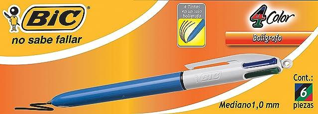BIC Bol 4 Color Original, 6 Piezas