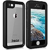 Temdan iPhone SE/5S/5 Waterproof Case with Kickstand Shockproof Waterproof Case for iPhone SE/5S/5(4inch)