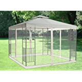 Greenbay Pavilion Gazebo Side Net Marquee Fly Screen Gathering Mosquito Netting Washable Removable Ivory(Side Net Only)