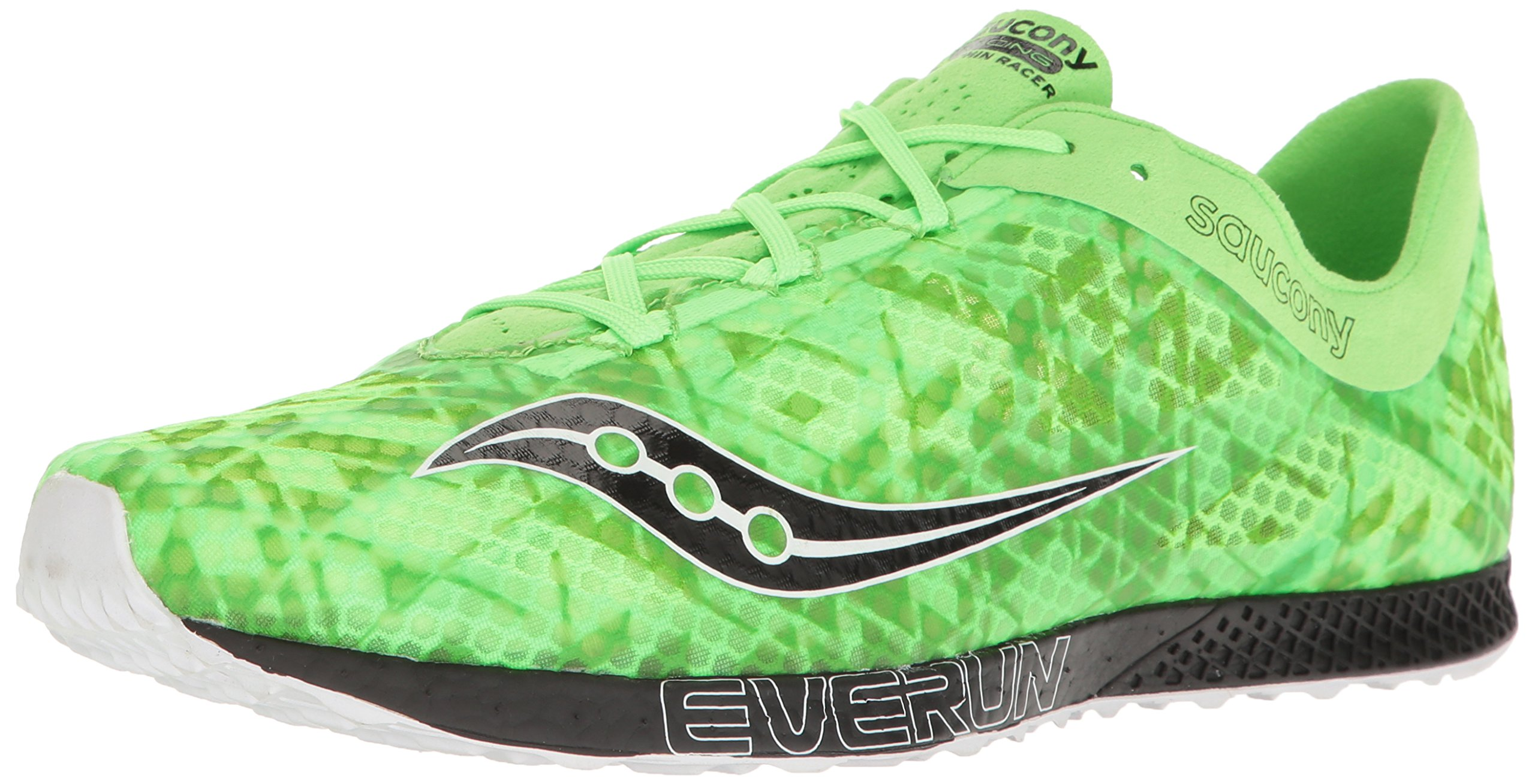 Saucony Men's Endorphin Racer 2 Track Shoe, Slime/Black, 7.5 M US by Saucony