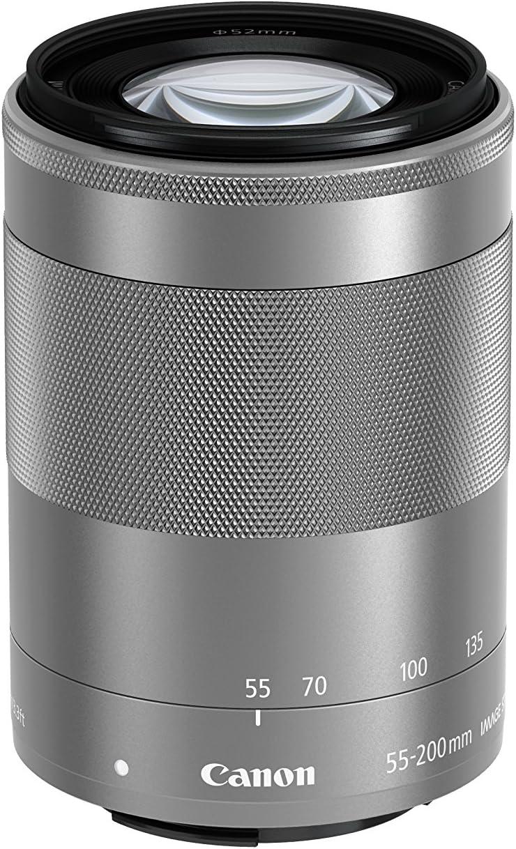 Canon EF-M 55-200mm f/4.5-6.3 Image Stabilization STM Zoom Lens (Silver)