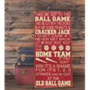 Ruskin352 Take Me Out to The Ballgame Baseball Nursery Decor Subway Art Plaque Wooden Sign 10x18 Playroom Decor Baseball Sign Nursery Wall Decor