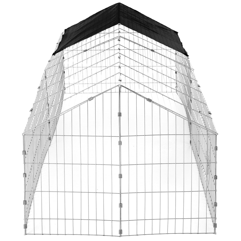 x h 180 x 75 x 75 cm x largh TecTake Gabbia da Esterno per Conigli con Protezione Parasole Tetto Nero   No. 402421 lungh Disponibile in Diversi Colori -
