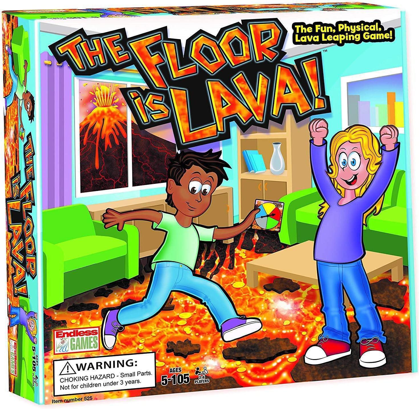 El suelo es la lava! Juego de mesa interactivo para niños y adultos (mayores de 5 años) Fiesta divertida, cumpleaños y juego familiar | Promueve la actividad física | Caja fuerte interior