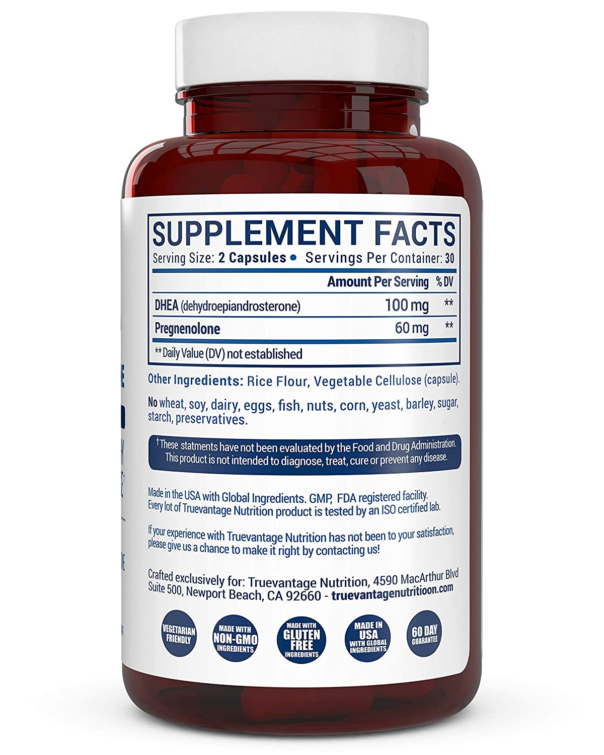 Amazon com: Extra Strength DHEA 100mg Supplement with Pregnenolone