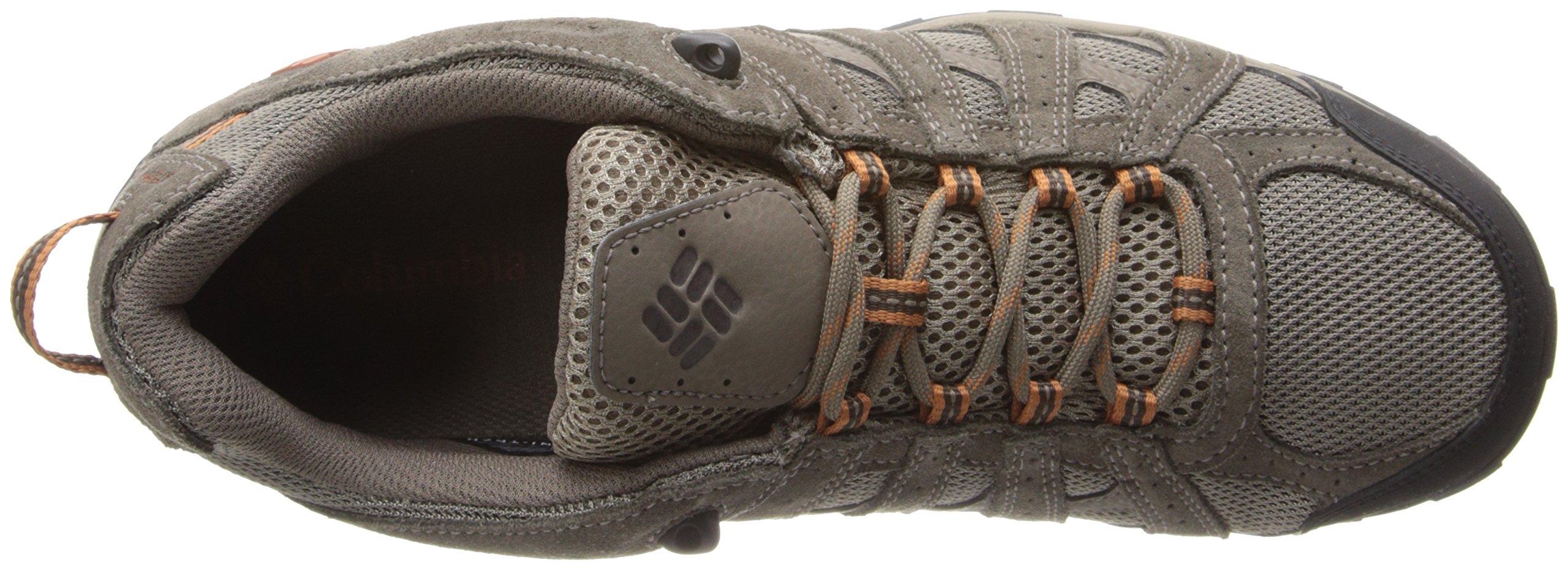 Columbia Men's Redmond Waterproof Hiking Shoe Pebble, Dark Ginger 7 D US by Columbia (Image #8)